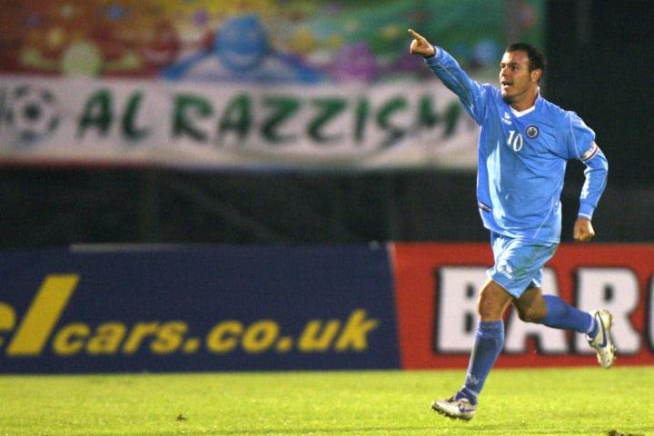 San Marino's forward and captain Andy Se