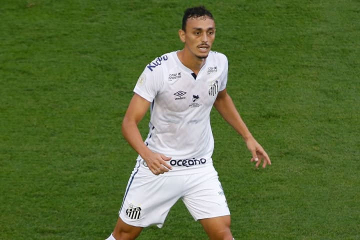 Santos v Red Bull Bragantino Play Behind Closed Doors the First Round of the 2020 Brasileirao Series A Amidst the Coronavirus (COVID - 19) Pandemic