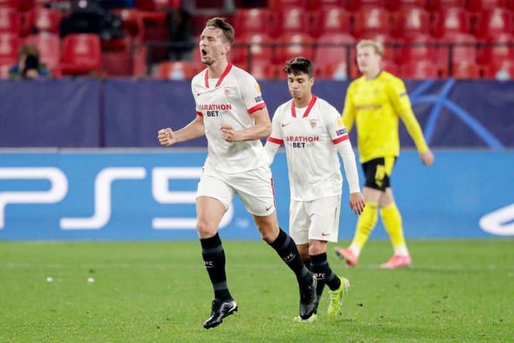 Luuk de Jong hielt Sevillas Hoffnungen am Leben