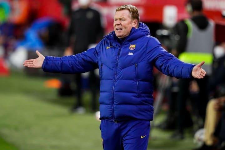 Koeman is under pressure at Camp Nou