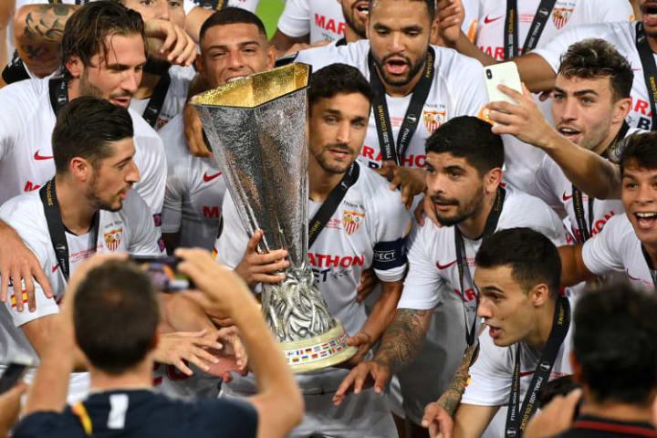 Jesus Navas has won three UEFA Cup/Europa League titles across two spells with Sevilla