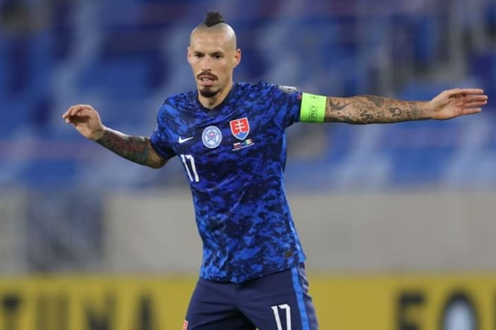 Marek Hamsik is playing at his third tournament with Slovakia