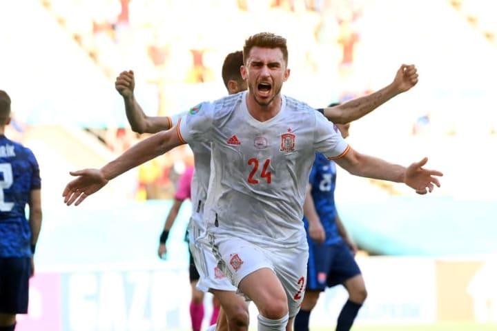 Laporte celebrates his goal