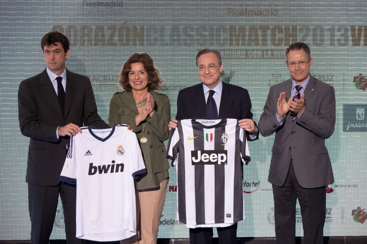 Ana Botella, Andrea Agnelli, Florentino Perez, Javier Senent