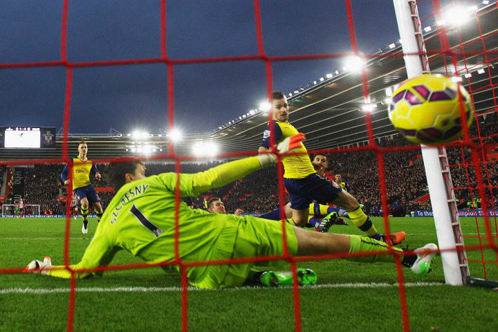 Szczesny didn't cover himself in glory as Arsenal lost 2-0 to Southampton in January 2015