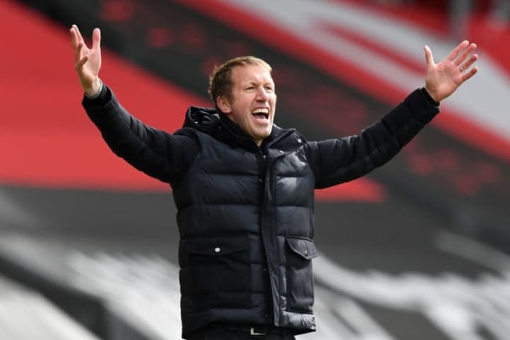 Graham Potter's Brighton side have struggled in front of goal this season