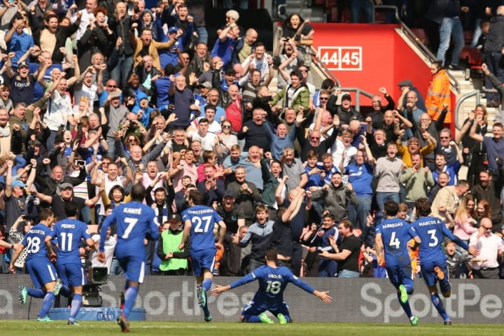 These were Giroud's first two goals for Chelsea