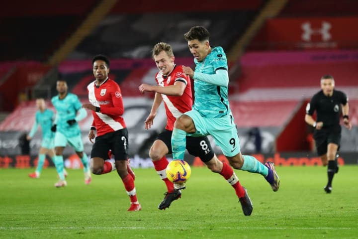 Ward-Prowse vying with Roberto Firmino