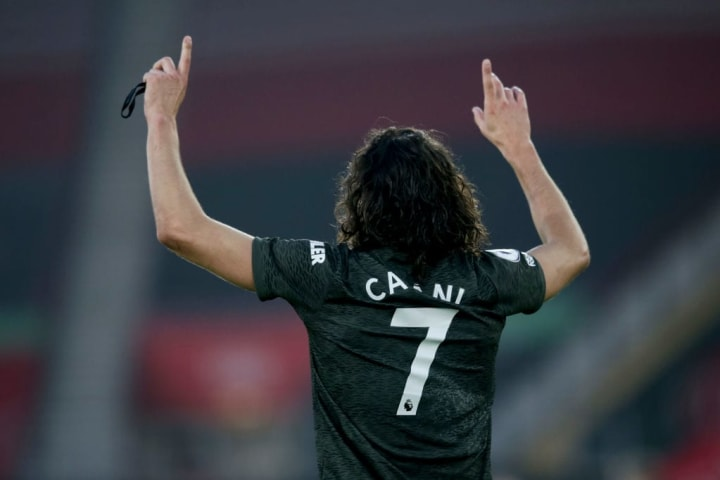Cavani's post came after he netted a brace against Southampton