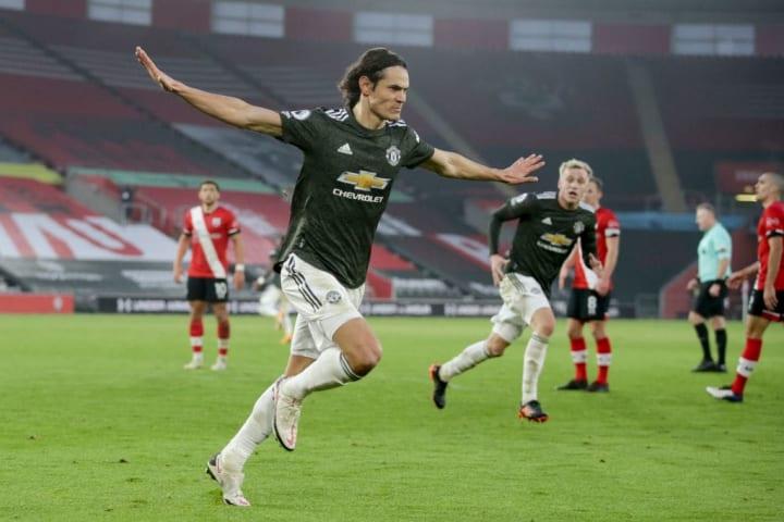 Cavani scored twice in a comeback win vs Southampton