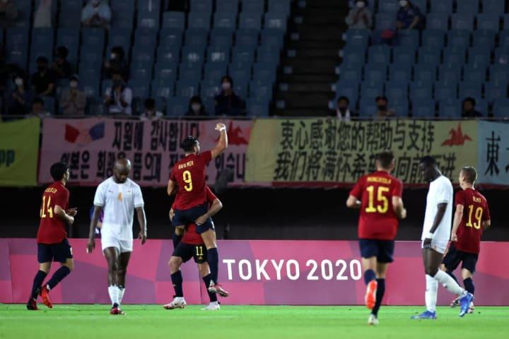 Rafa Mir Espanha Costa do Marfim Japão Olimpíadas Tóquio Futebol Semifinais