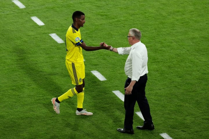 Janne Andersson gives Alexander Isak a well-earned rest