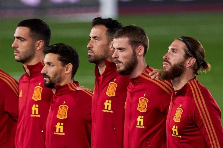 Sergio Ramos, David de Gea, Sergio Busquets, Jesus Navas, Mikel Merino