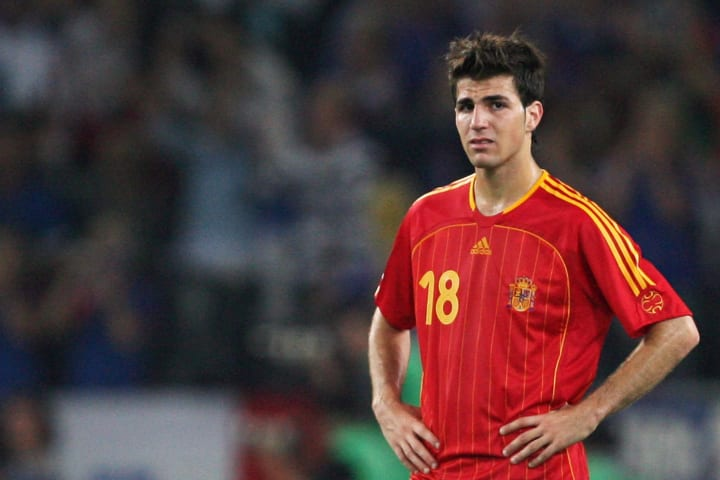 Spanish midfielder Francesc Fabregas loo