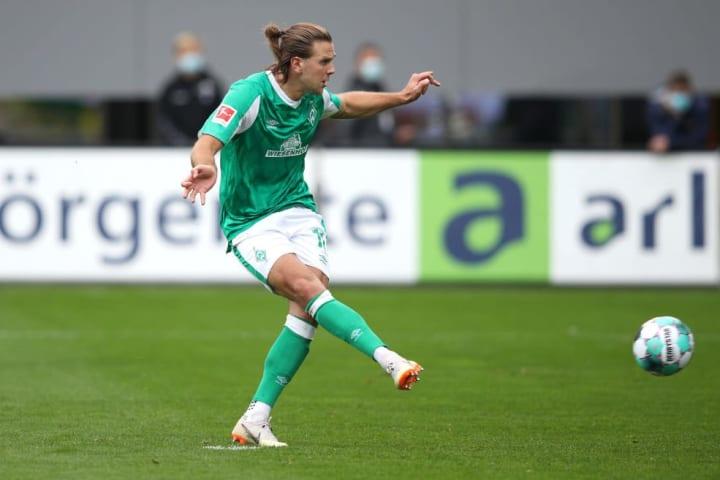 Niclas Füllkrug ist mit vier Toren (gemeinsam mit Bittencourt) weiterhin Werders Top-Torschütze der laufenden Spielzeit