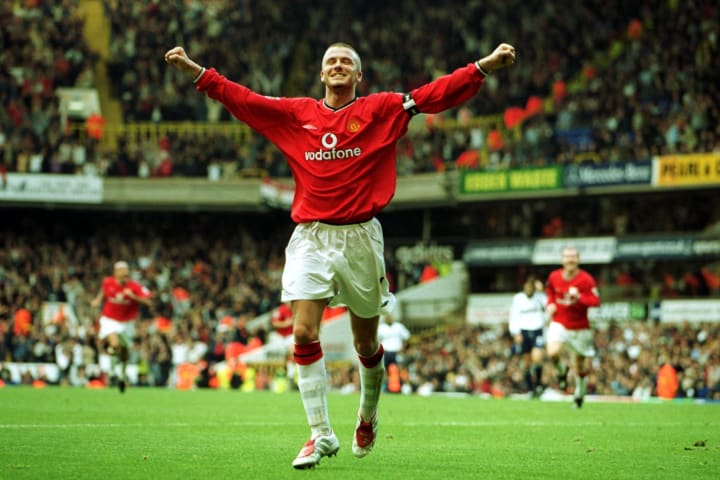 David Beckham captained Man Utd to a sensational comeback at White Hart Lane