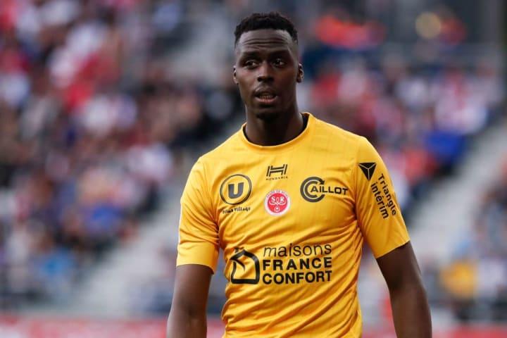 Édouard Mendy sous les couleurs du Stade de Reims.