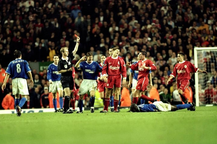 Gerrard was sent off at the death