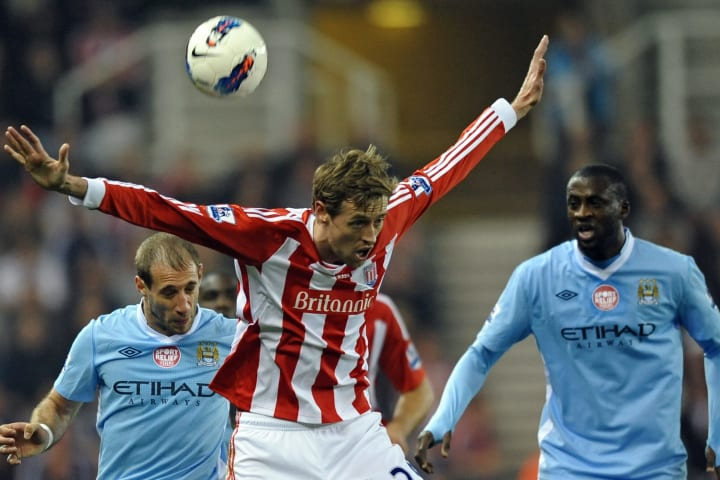 Stoke City's English striker Peter Crouch