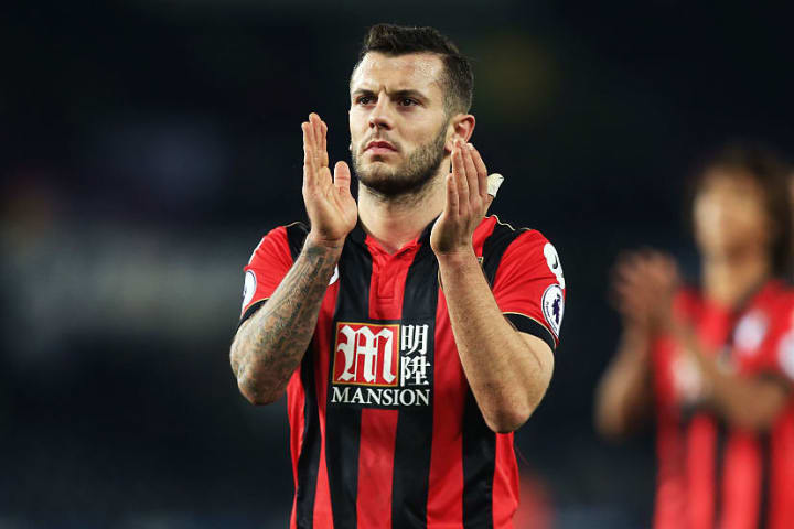 Wilshere played 27 times for Bournemouth on loan in 2016/17