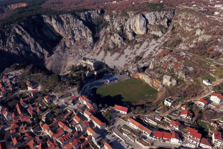 Stadion Gospin Dolac Croácia Cenário Visual