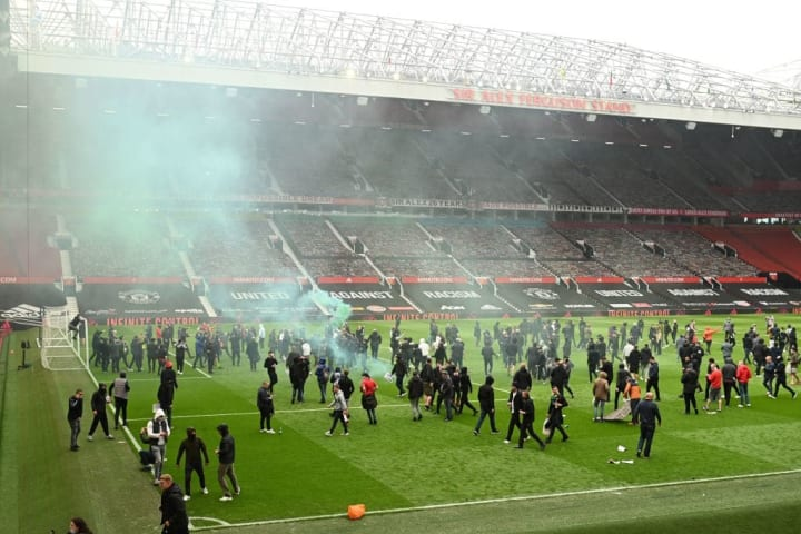 Man Utd vs Liverpool was called off after protesters gained access to the Old Trafford pitch
