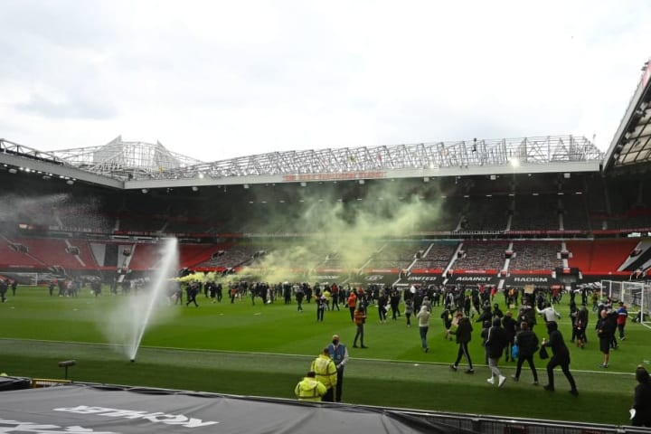 Protests at Old Trafford forced the Liverpool game to be postponed