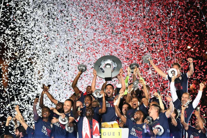 Monaco were crowned champions of France in 2017