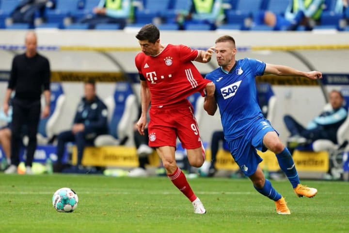 Robert Lewandowski received the same robust treatment his teammate had suffered after coming on in the second half