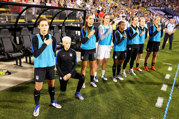 Rapinoe first took the knee for the USA against Thailand in 2016