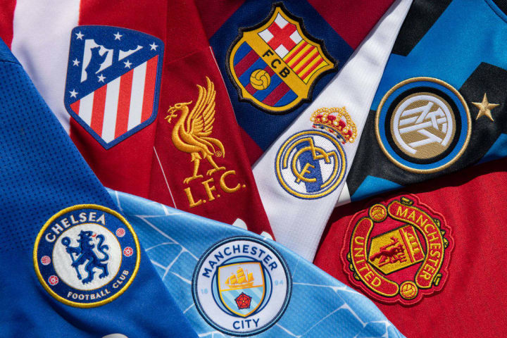The Club Badges of Some Teams Involved in the European Super League