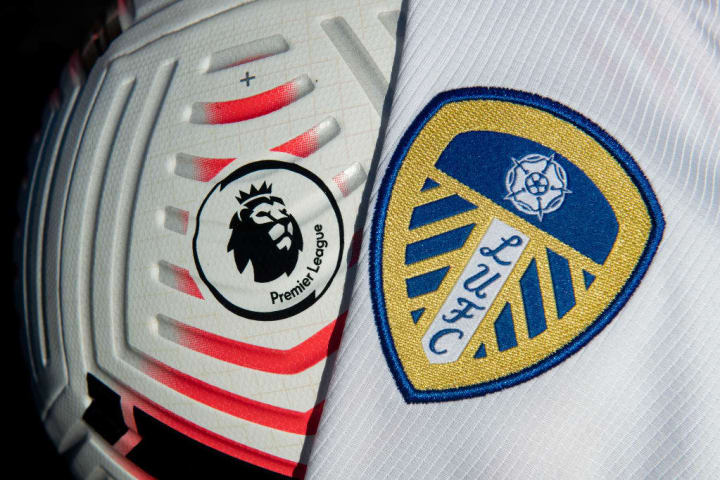 The Official Nike Premier League Match Ball with the Leeds United Badge