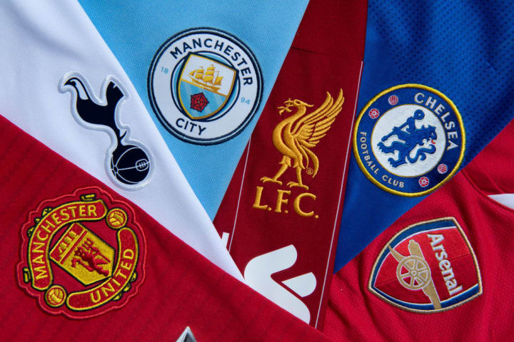 The Top Six Club Badges on Football Shirts