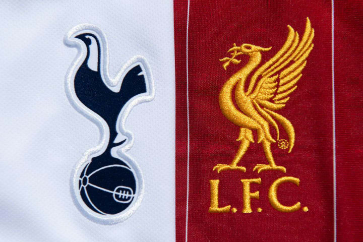 The Tottenham Hotpsur and Liverpool Club Badges