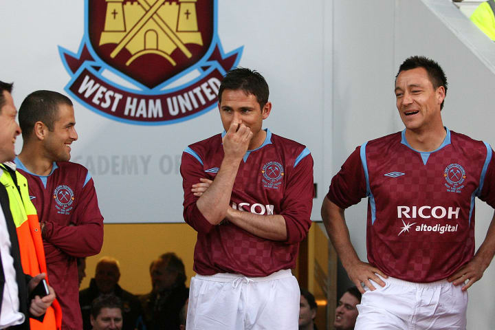 Cole, Lampard and John Terry came through West Ham's youth system, managed by Tony Carr