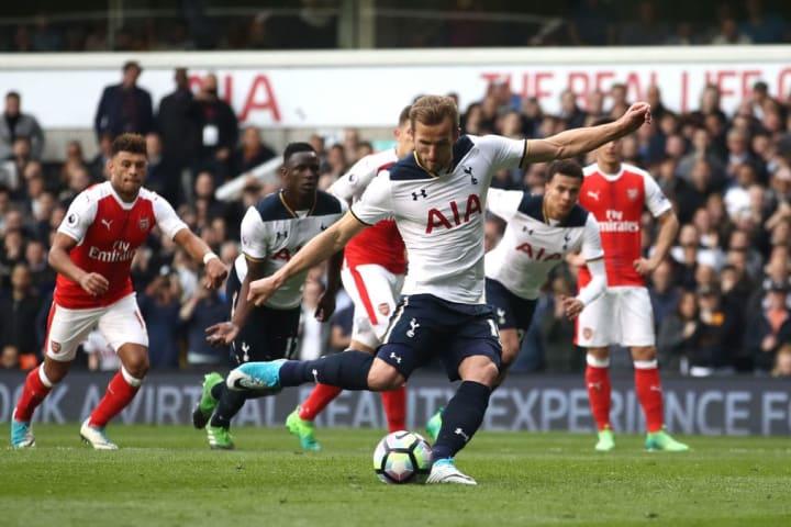 Kane takes penalty, Kane scores penalty