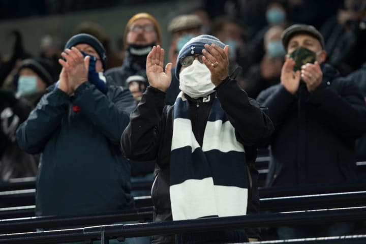 Fans in some parts of the country were briefly allowed into games before Christmas