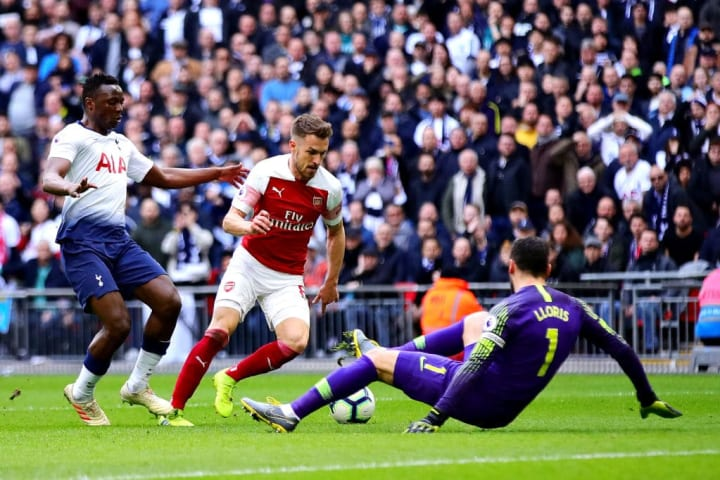 Ramsey scored in his last ever meeting with Tottenham back in February 2019