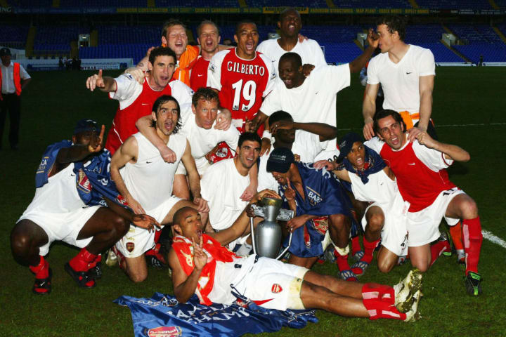 Arsenal clinched the title at Tottenham for a second time