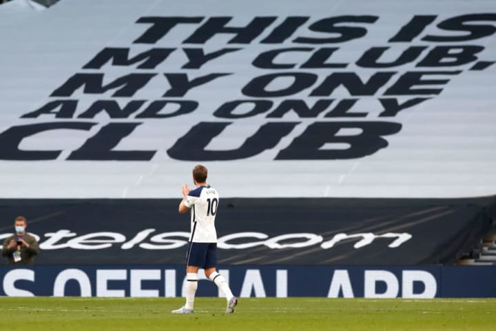 Kane appeared to bid farewell to Spurs fans