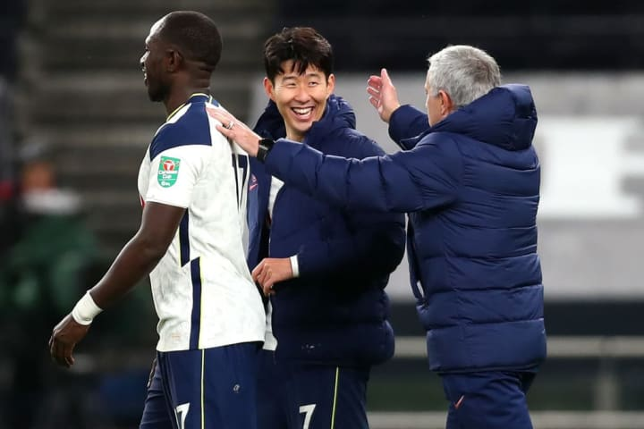 Jose Mourinho, Son Heung-Min, Moussa Sissoko