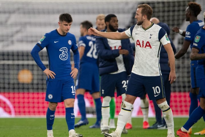 Spurs won on penalties after Mason Mount missed