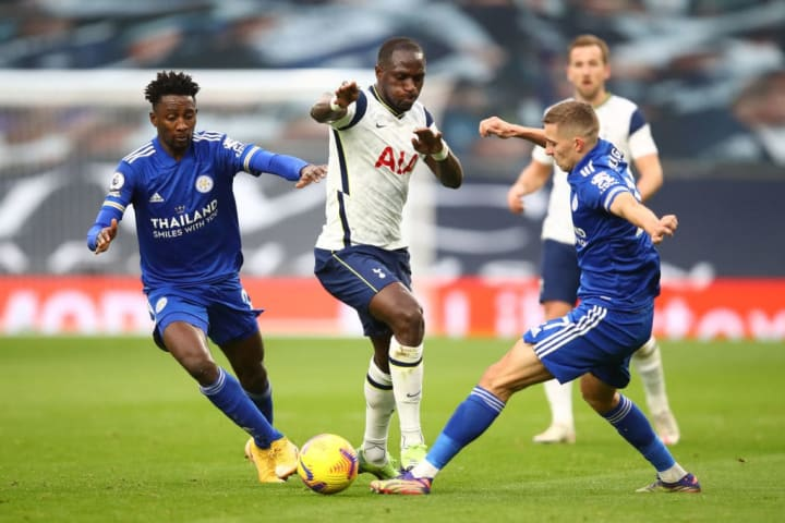 Wilfred Ndidi, Moussa Sissoko and Timothy Castagne