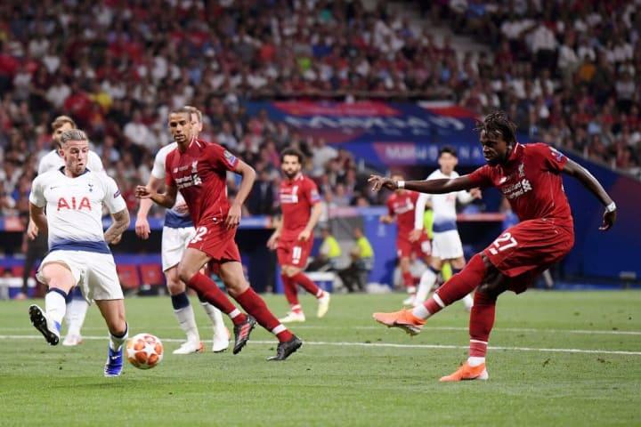 Divock Origi fires Liverpool into a 2-0 lead