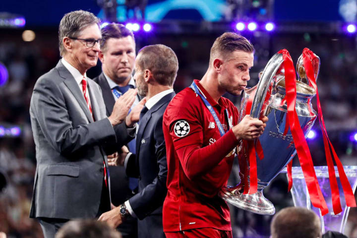 Henderson played through injury in the Champions League semi final en route to captaining Liverpool to European glory