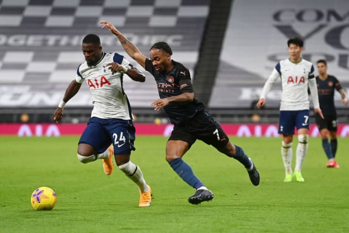 Sterling was in action against Spurs after returning from a calf injury
