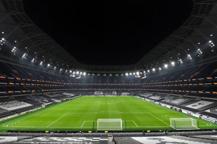 2,000 fans will be in attendance at the Tottenham Hotspur Stadium
