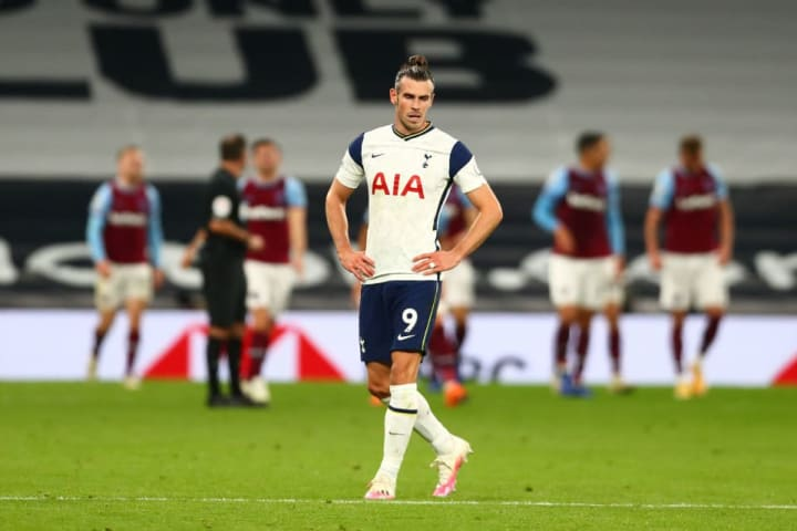 Bale made a substitute cameo against West Ham