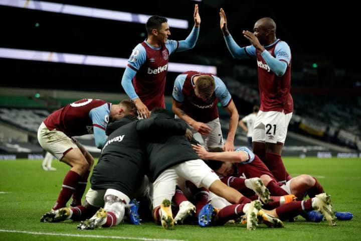 West Ham scored three times in the final seven minutes to snatch a draw at Spurs in October