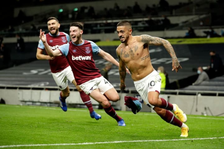 Manuel Lanzini's late stunner sealed an incredible comeback against Tottenham